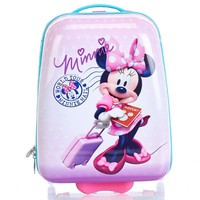 Minnie Mouse ABS Kids Hard Shell Rolling Wheeled Luggage Suitcase