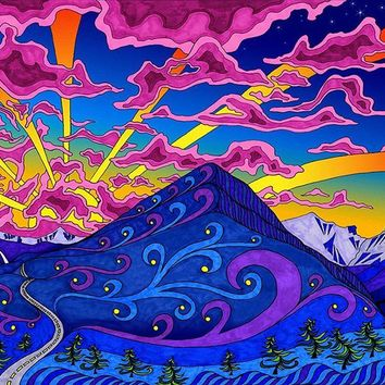 Trippy Mountain Scene  - Modern Art