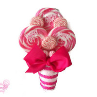 Pink Bridesmaid Lollipop Bouquet, Wedding Bouquet, Candy Bouquet, Rehearsal Bouquet, Lollipop Bouquet, Candy Bouquet, Pink Bouquet, Pink