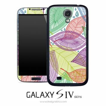 Seamless Colorful Leaves Skin for the Galaxy S4