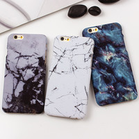 White Black Marble Stone Phone Case For iPhone 7 6 6s 5s SE Cases Hard Back Case Cover For iphone 7 Plus 6 6S Plus Fundas