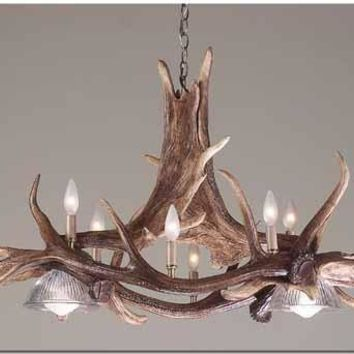 """The Majestic"" Elk and Moose Antler Chandelier"