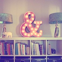 "24"" Ampersand ""&"" Vintage Marquee Lights Sign (Rustic)"