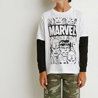Boys Layered Marvel Tee (Kids)