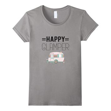 Happy Glamper Camping T-Shirt Outdoor Holiday Glamping Tee