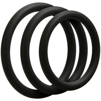 Doc Johnson Optimale C Ring Kit Thin  Black