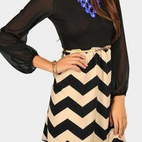 Ballerina Chevron Dress