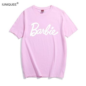 cad27a5d70d Barbie Letter Print Cotton T-Shirt Women Sexy Tumblr Graphic tee
