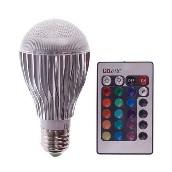 EconoLed 10W LED RGB Magic Lamp Light Bulb, Color Changing Spotlight with Remote Control