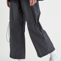 Drawstring Trousers With Back Split