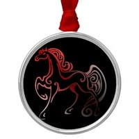 Horse Tails Metal Ornament