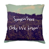 "Throw Pillow-Home Decor-""Somewhere""  Pillow-Typography--Lake & Woodland Landscape,Home Decor- - $35.00 - Handmade Home Decor, Crafts and Unique Gifts by Vintage Skies Photography & Designs"