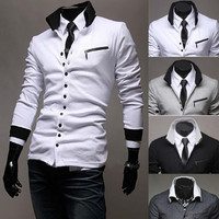 Slim Fit Knit Button Men's Fashion Cardigan