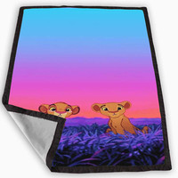 Lion King Simba Nala Blanket for Kids Blanket, Fleece Blanket Cute and Awesome Blanket for your bedding, Blanket fleece *