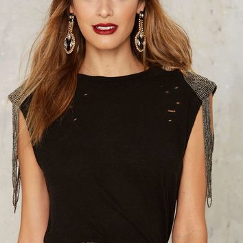 Nasty Gal Collection Call to Armor Embellished Muscle Tee