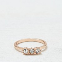 AEO Women's Rose Gold Gemstone Ring (Rose Gold)