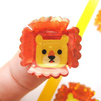 Adorable Lion Shaped 3D Pop-Up Stickers from Japan | Cute Animal Themed Scrapbook Decorating Supplies