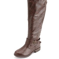 KNEE-HIGH ANKLE STRAP RIDING BOOT