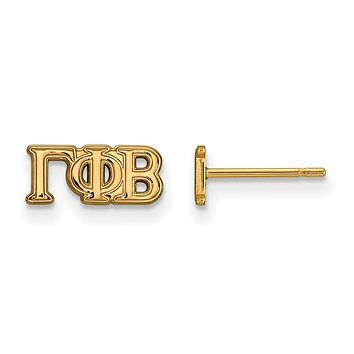14K Plated Silver Gamma Phi Beta X-Small Post Earrings