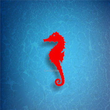 SEAHORSE /4/ vinyl decals * tumbler decals * car decals * tropical decals * under the sea decals * seahorse decals * sea life