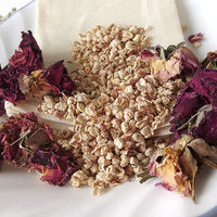 Mood Enhancing (Rose scented) Potpourri Sachet - 3x5 Muslin Bag -- Home/Car Fragrance
