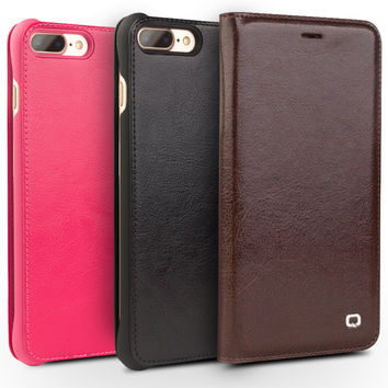 New Case for iPhone 7 Handmade Genuine Leather Flip Cover for iphone 7 plus luxury Ultra Slim Phone Case 4.7/5.5 holster
