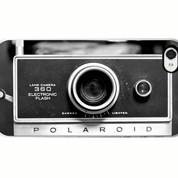 Vintage camera Iphone 5 case- polaroid, iphone 5 case, Iphone case 5s, hipster, unisex, gift, black and white photo, custom iphone case