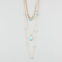 Full Tilt Turquoise Layered Necklace Gold One Size For Women 25576162101