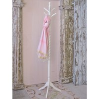 Bella Collection White Hall Tree Coat Rack - Shop By Brand