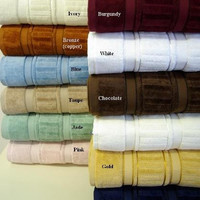 Luxury 6-PC Striped Egyptian Cotton Towel Set