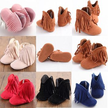 Babies - Kids Moccasin Soft Sole Booties (Shoes)