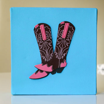 Cowgirl Wall Decor, Cowgirl Nursery, Cowgirl Boots, Pink Cowgirl Decor, Little Cowgirl, Cowgirl Wall Art