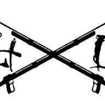 Salt Life Signtature & Spearguns Decal Black Medium