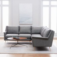 Carlo Mid-Century L-Shaped Sectional