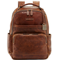 Logan Men's Pull-Up Leather Backpack, Cognac - Frye