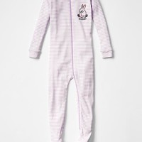Gap Baby Love Bunny Stripe Footed Sleep One Piece