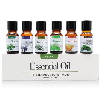100% PURE & NATURAL ESSENTIAL OILS 6 in 1 Gift Kit Certified 10ML