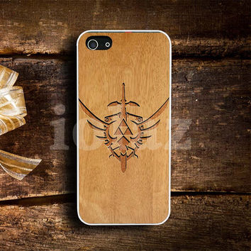 triforce the legend of zelda  wood Pattern Design mobile Phone case
