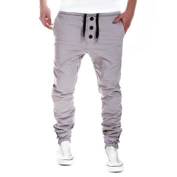 Feitong Brand Men Pants Hip Hop Harem Joggers Pants 2017 Male Trousers Mens Joggers Khaki Solid Pants Sweatpants 3XL