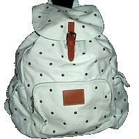 Victoria's Secret PINK MINI White Studded Canvas Backpack School Bag:Amazon:Sports & Outdoors