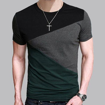 Men's T Shirt, Slim Fit, Short Sleeve Shirts. Available in 8 designs
