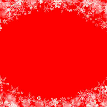 Digital Snowflake and Bokeh Frame, Delicate Christmas Background, Photoshop PNG Overlay for Portraits, Xmas, Crafting