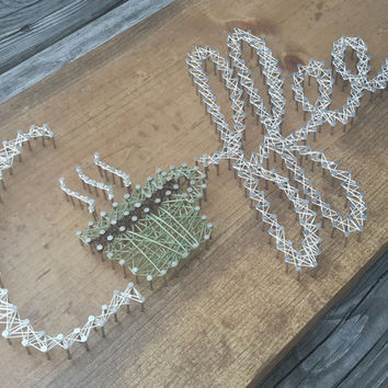 Coffee ~ String Art ~ Unique Coffee Lover Gift, Beverage Decor Sign for Cafe or Restaurant, Best Friend Birthday