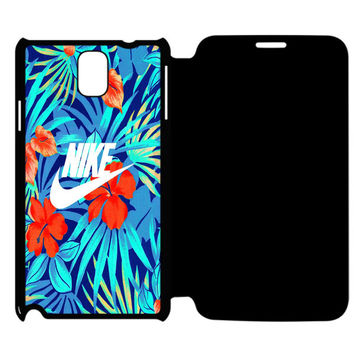Tropical Nike Pattern Samsung Galaxy Note 4 Flip Case Cover