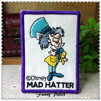 Disney Alice in Wonderland Mad Hatter Iron on Applique 400-H
