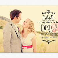 Save The Date Sunnyside Wedding Card or Magnet by sgcc on Etsy