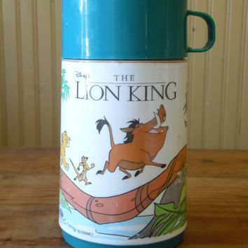 FREE SHIPPING - Disney's The Lion King Thermos/Vintage Thermos/Disney/Aladdin Thermos/Vintage Disney/Children's Thermos/1990's Thermos