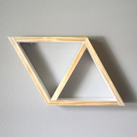 Geometric Shelf . Diamond Shelving . Triangle Shelf . Modern . Minimal