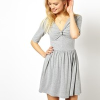 ASOS Skater Dress With Twist Front