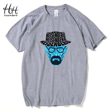 Breaking Bad T Shirts Men Heisenberg Walter White Hat T-Shirts Cotton O Neck Short Sleeve Rock Tshirt Hombres